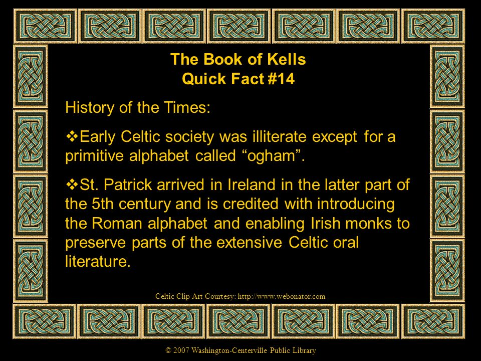 The Book of Kells Quick Fact #14