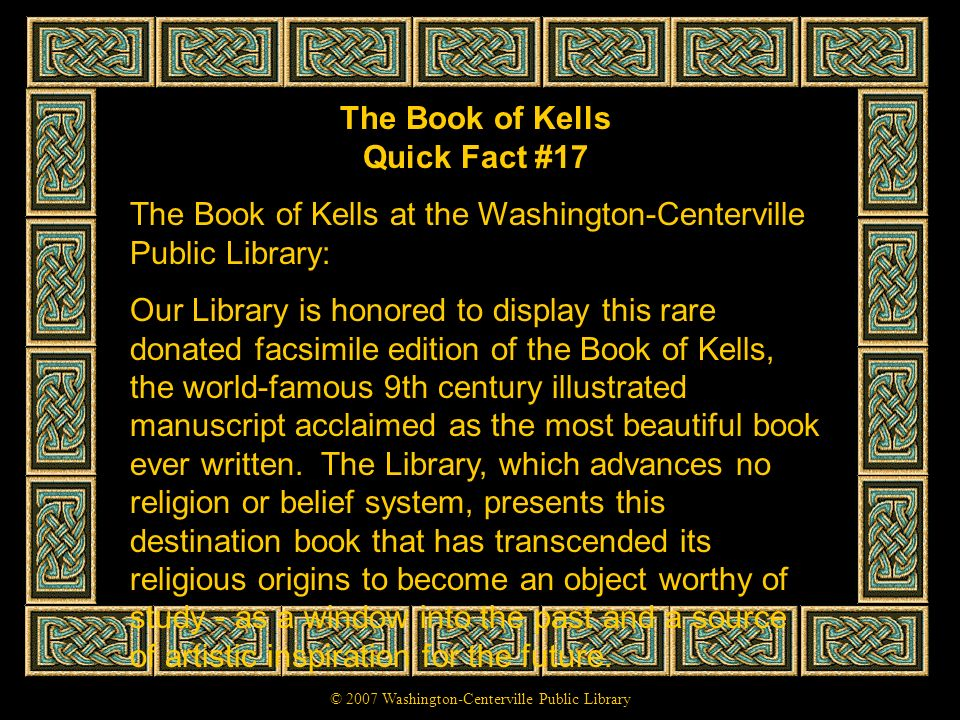The Book of Kells Quick Fact #17