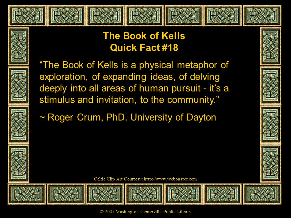 The Book of Kells Quick Fact #18