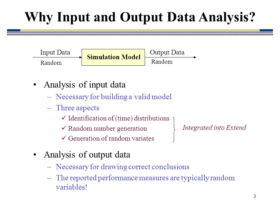 statistical analysis of simulation output data Statistical analysis with latent variables  output, savedata, and plot  monte carlo simulation studies, where data can be generated and.