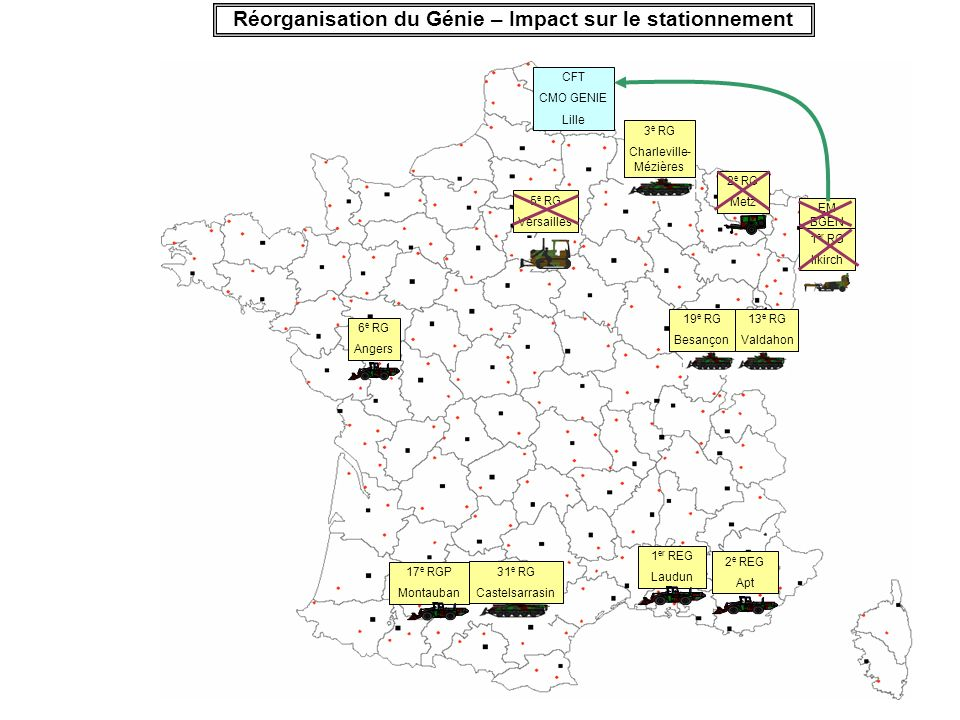 Réorganisation du Génie – Impact sur le stationnement