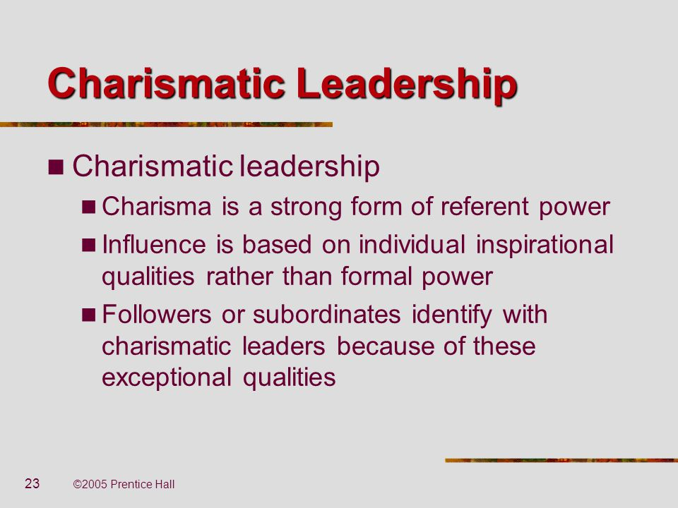 a discussion on charismatic leadership Centre for leadership studies a review of leadership theory and  ♦ the report concludes with a discussion of the competency framework approach to.