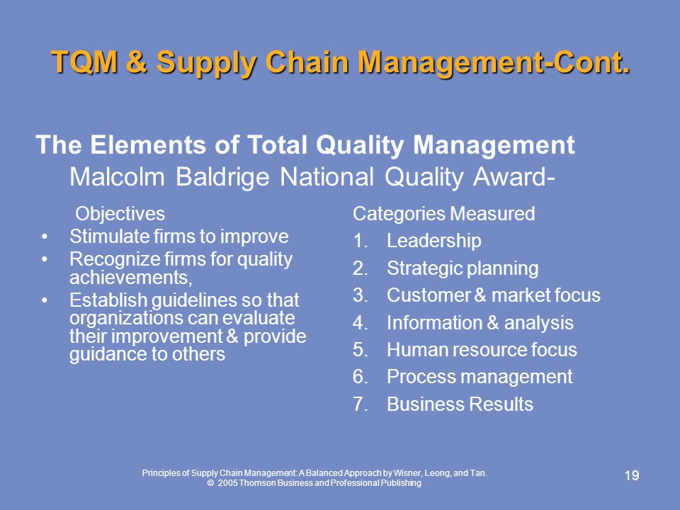 an analysis of total quality management approach Increased quality comes from systematic analysis and improvement of  the  tqm approach emphasizes the major role that managers have in.