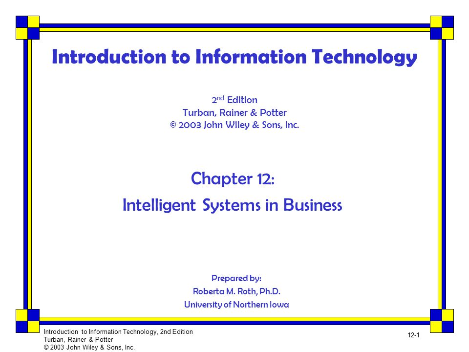 introduction of technology