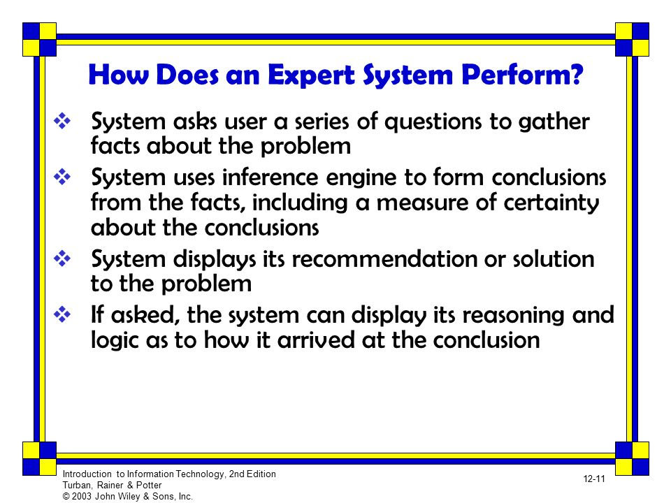 How Does an Expert System Perform