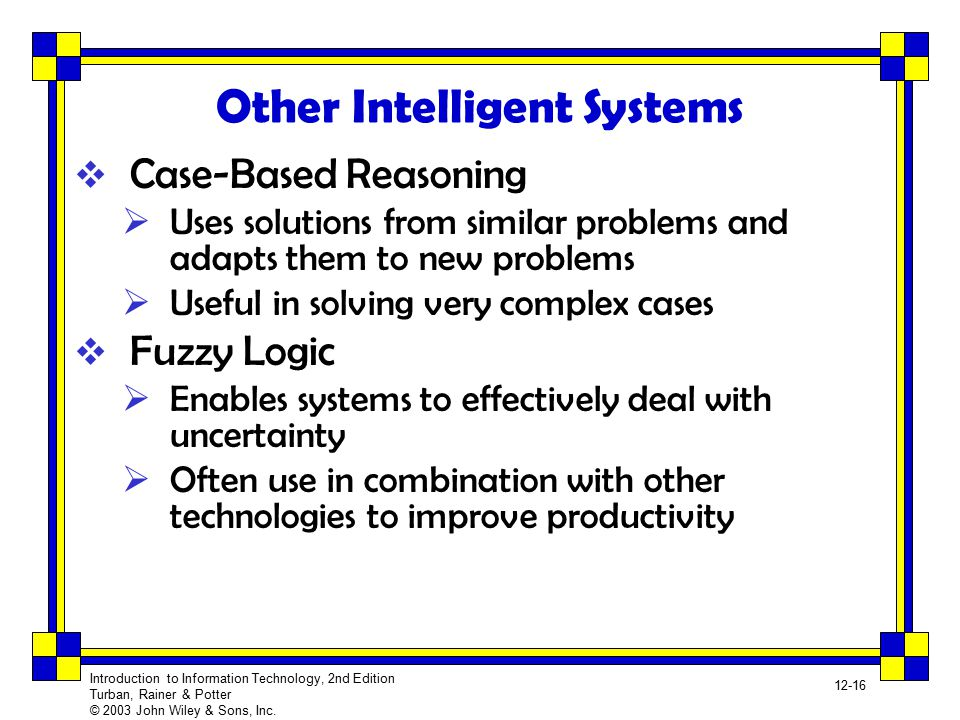Other Intelligent Systems