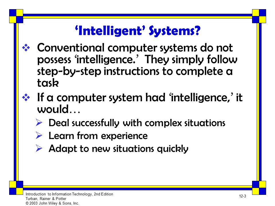 'Intelligent' Systems