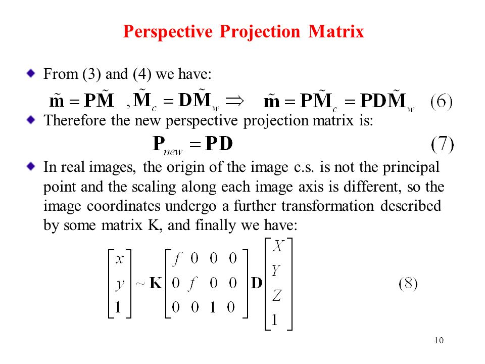 Perspective Projection Matrix
