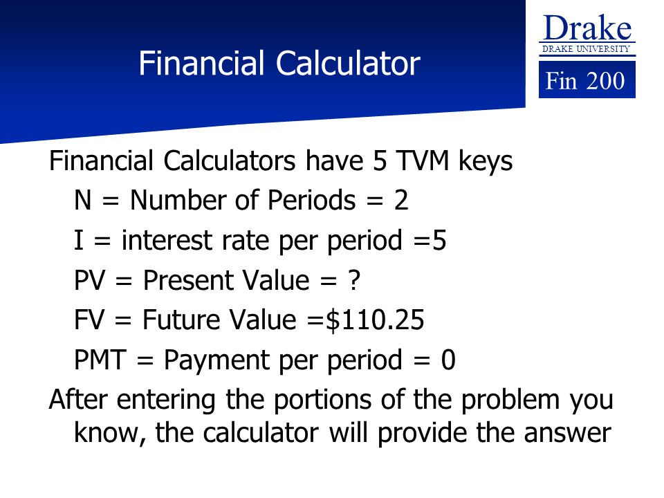 Online Financial Calculator