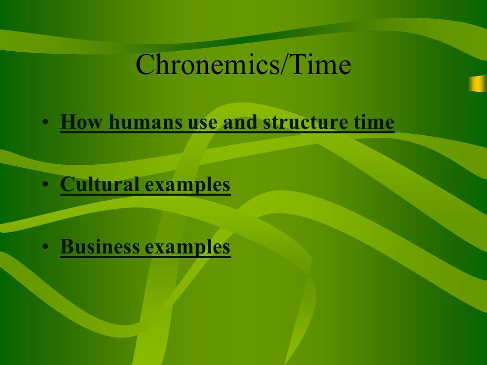chronemics examples