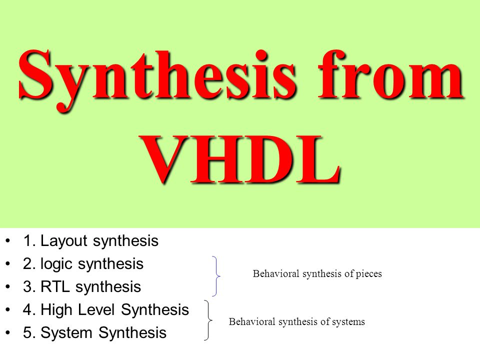 sythesis from