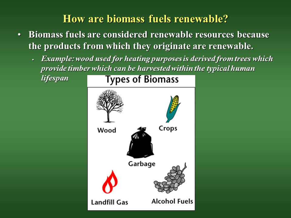 How are biomass fuels renewable