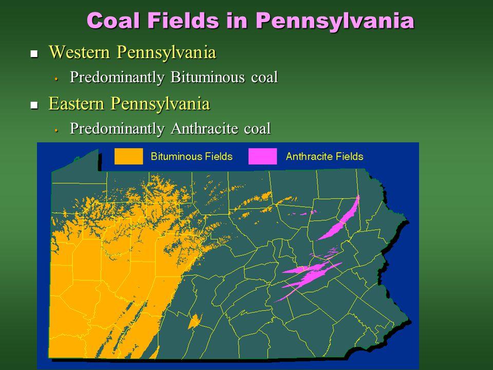 Coal Fields in Pennsylvania