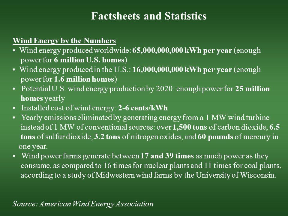 Factsheets and Statistics