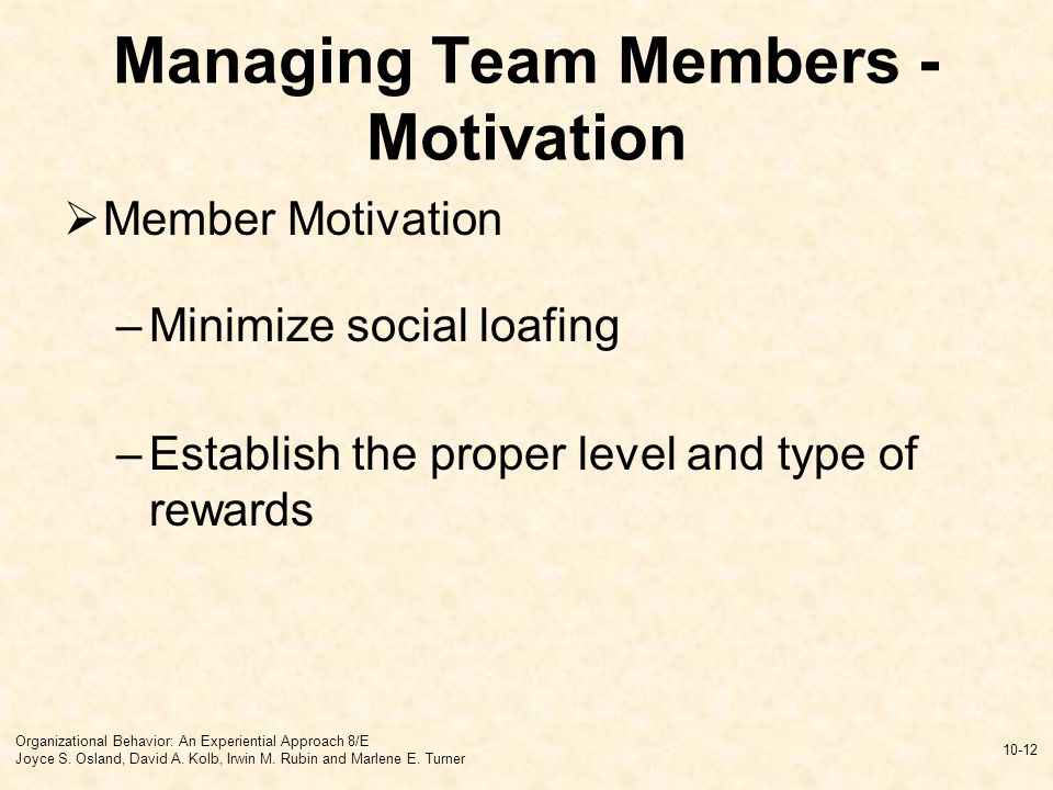 motivation of team members What are the most effective methods for motivating individual team building members impressions are the powerful link between thought and action.