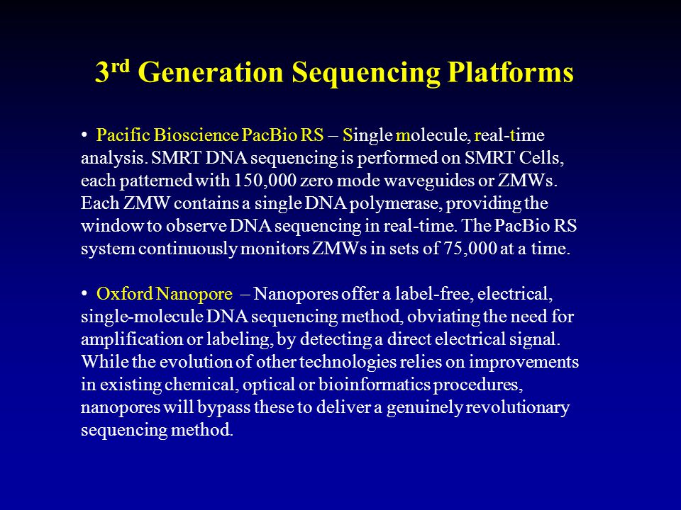 3rd Generation Sequencing Platforms