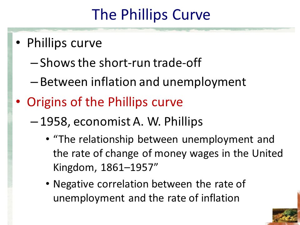 short run trade off between inflation and unemployment relationship