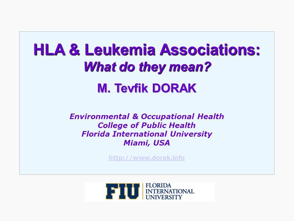 HLA & Leukemia Associations:
