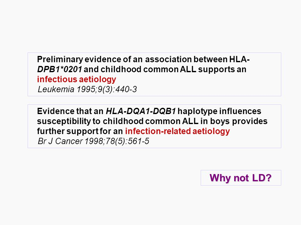 Preliminary evidence of an association between HLA-DPB1