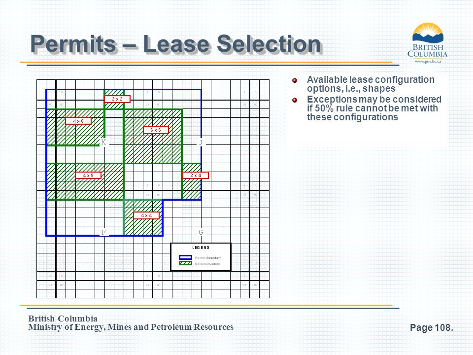 Permits – Lease Selection