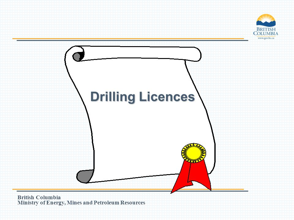 Drilling Licences