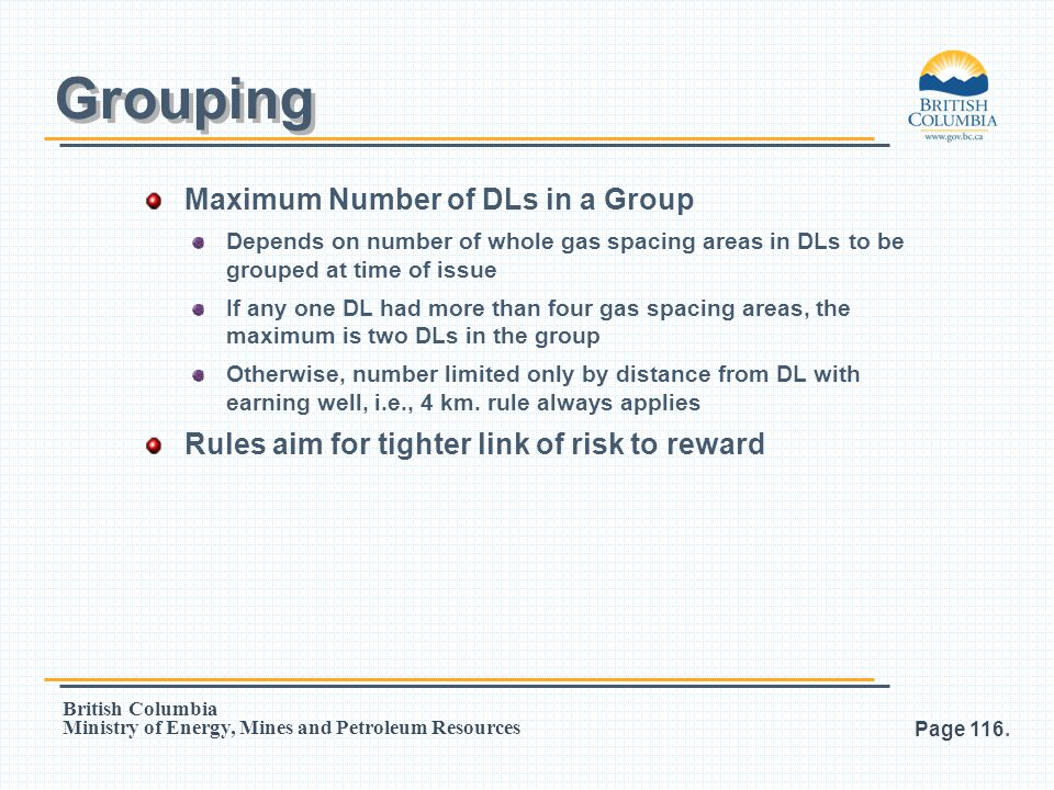Grouping Maximum Number of DLs in a Group