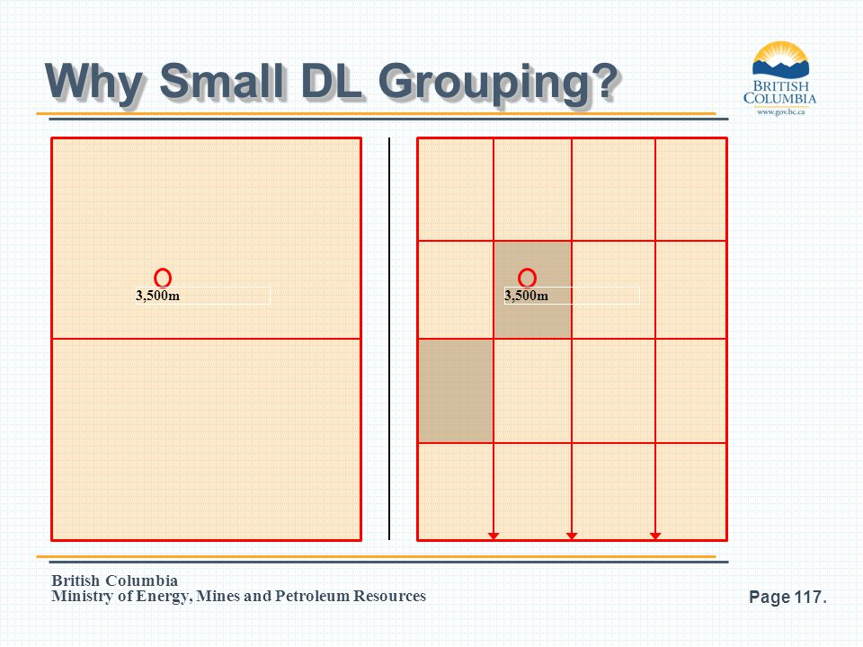Why Small DL Grouping 3,500m 3,500m