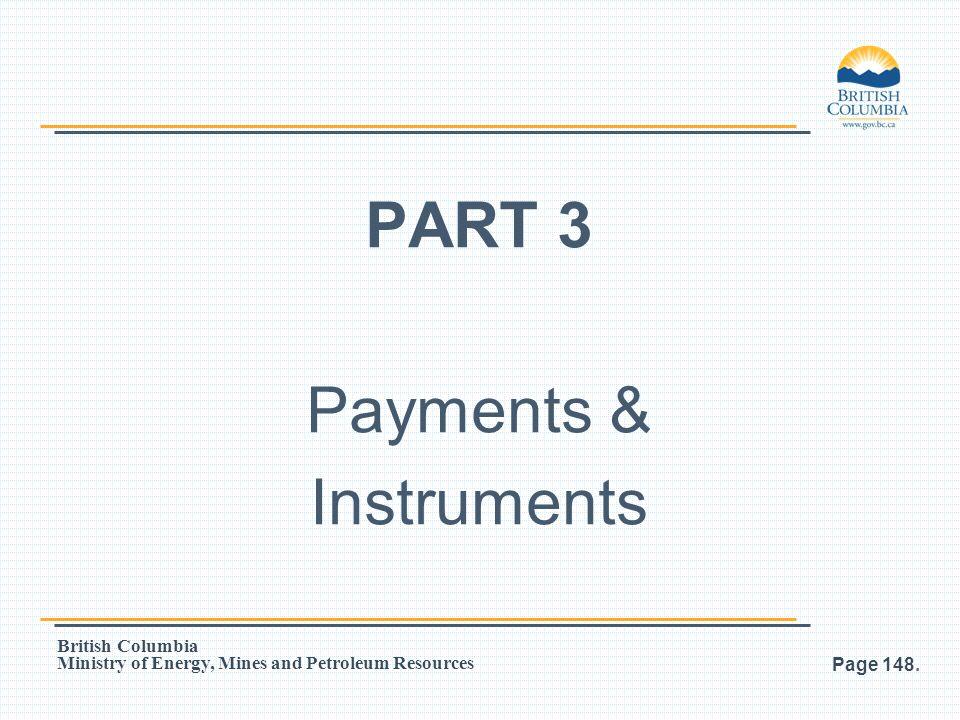 PART 3 Payments & Instruments
