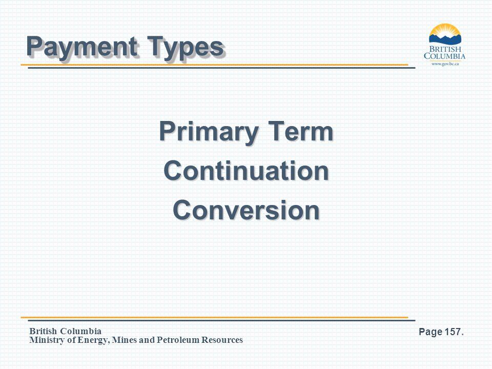 Primary Term Continuation Conversion