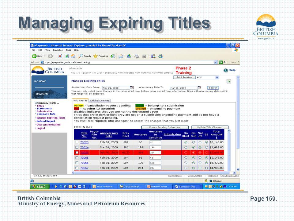 Managing Expiring Titles
