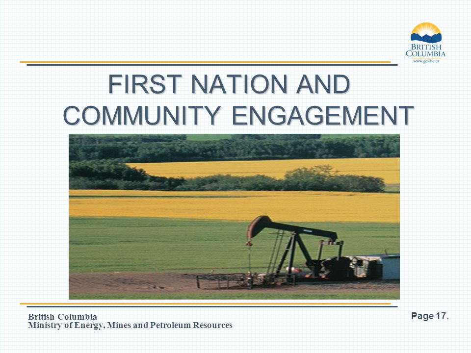 FIRST NATION AND COMMUNITY ENGAGEMENT