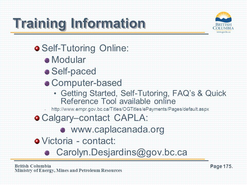 Training Information Self-Tutoring Online: Modular Self-paced