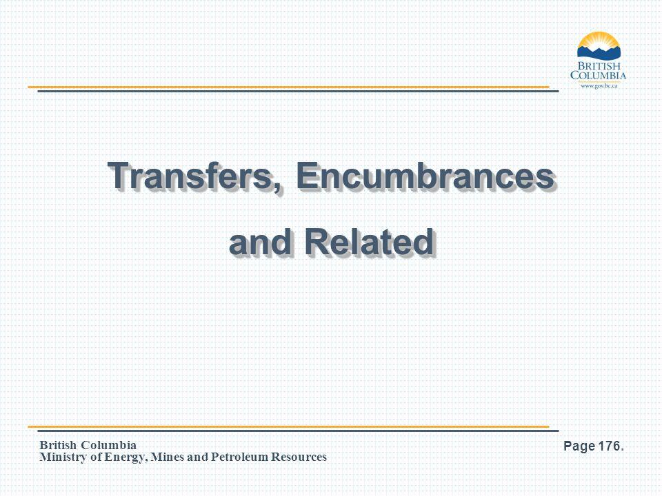 Transfers, Encumbrances