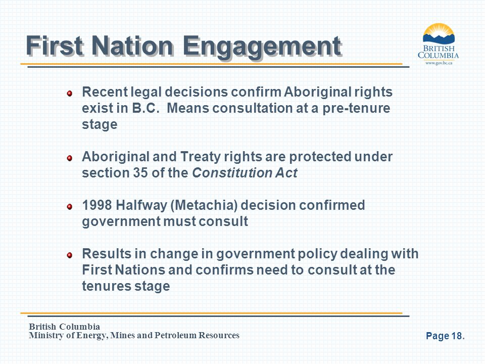 First Nation Engagement