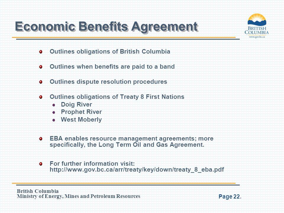 Economic Benefits Agreement