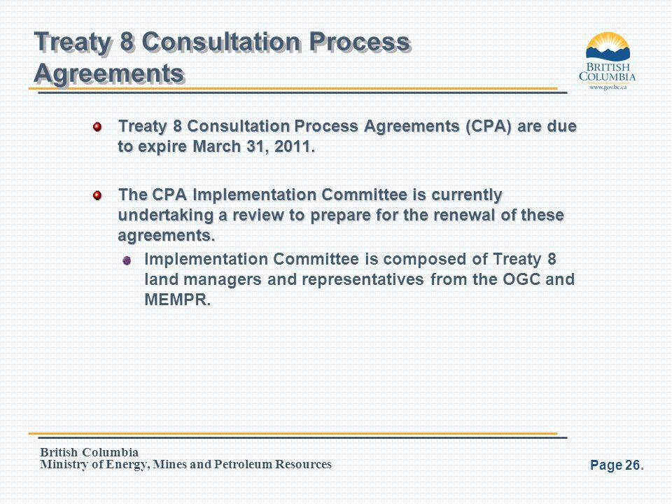 Treaty 8 Consultation Process Agreements