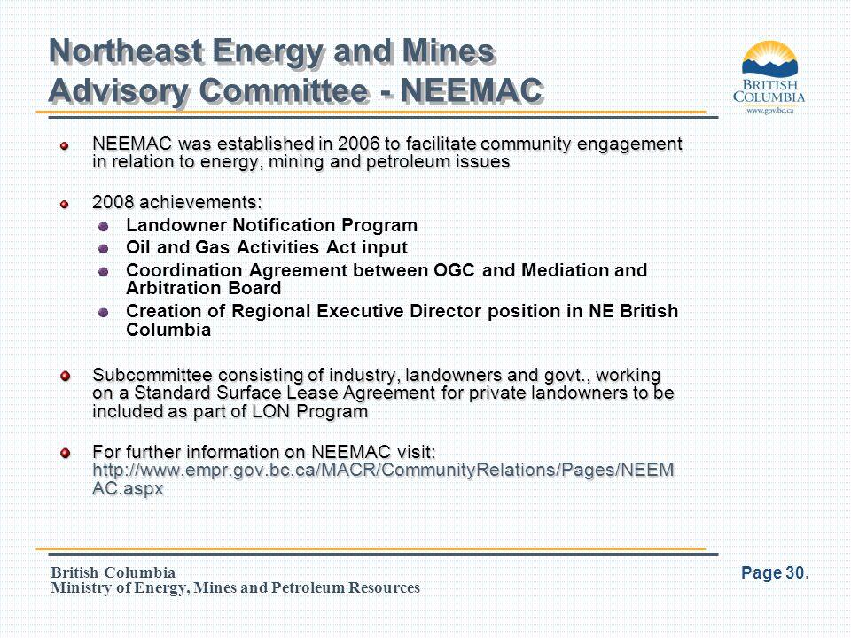 Northeast Energy and Mines Advisory Committee - NEEMAC