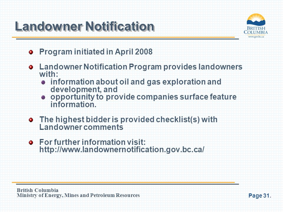 Landowner Notification