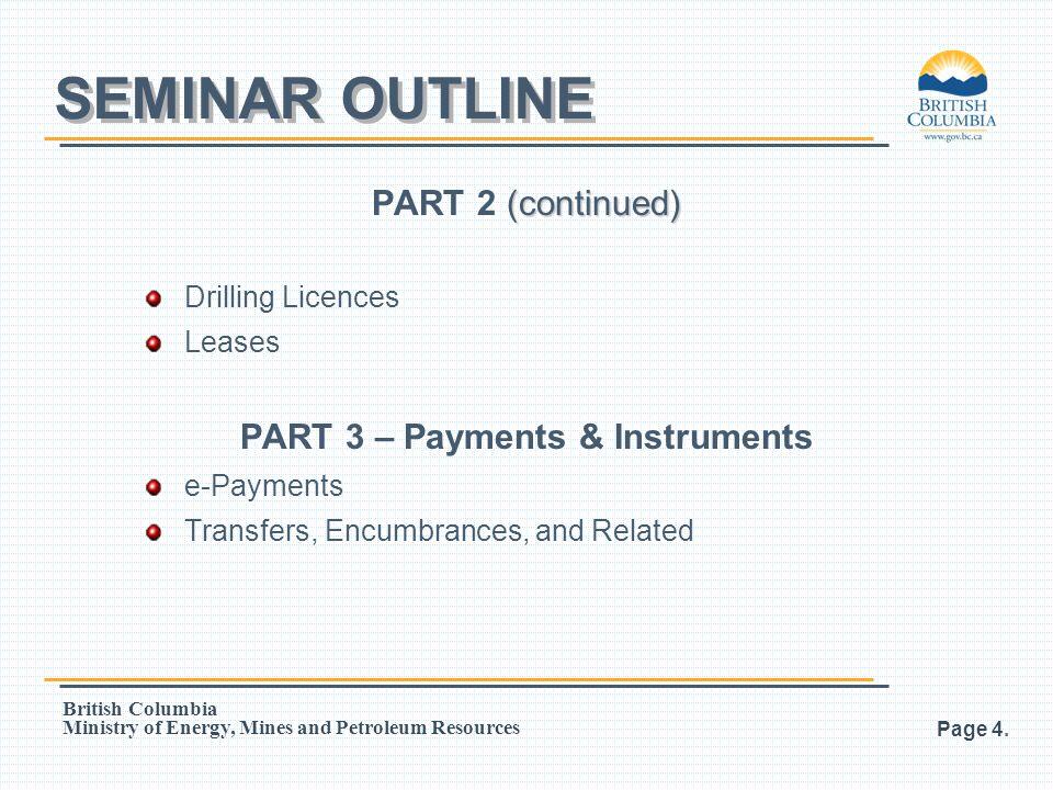 PART 3 – Payments & Instruments