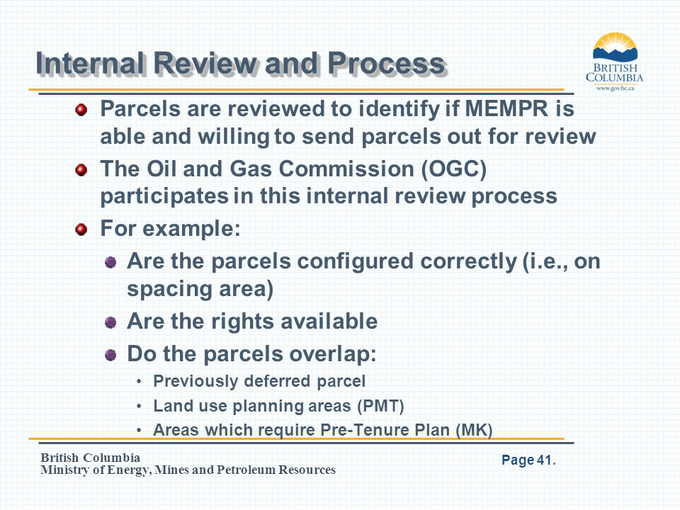 Internal Review and Process
