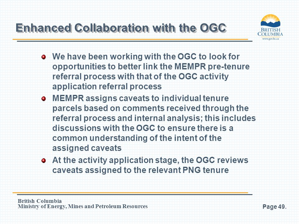 Enhanced Collaboration with the OGC
