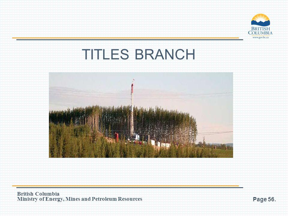 TITLES BRANCH