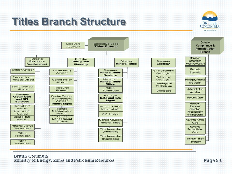 Titles Branch Structure