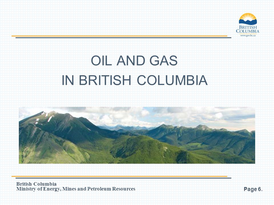 OIL AND GAS IN BRITISH COLUMBIA