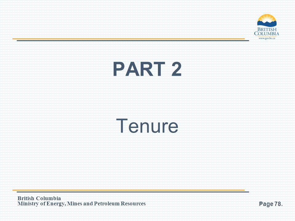 PART 2 Tenure