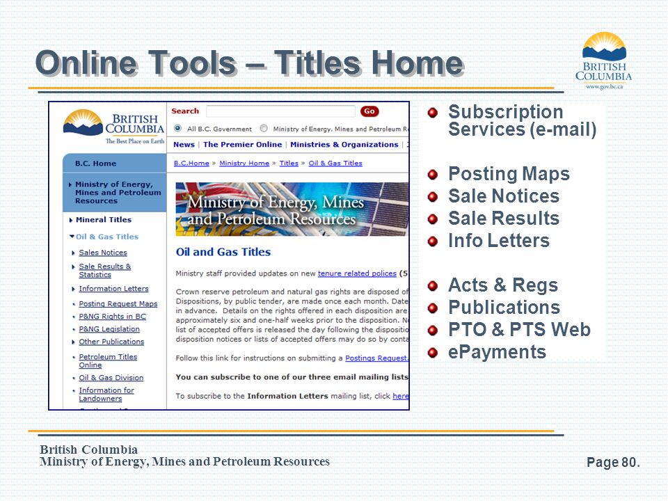 Online Tools – Titles Home