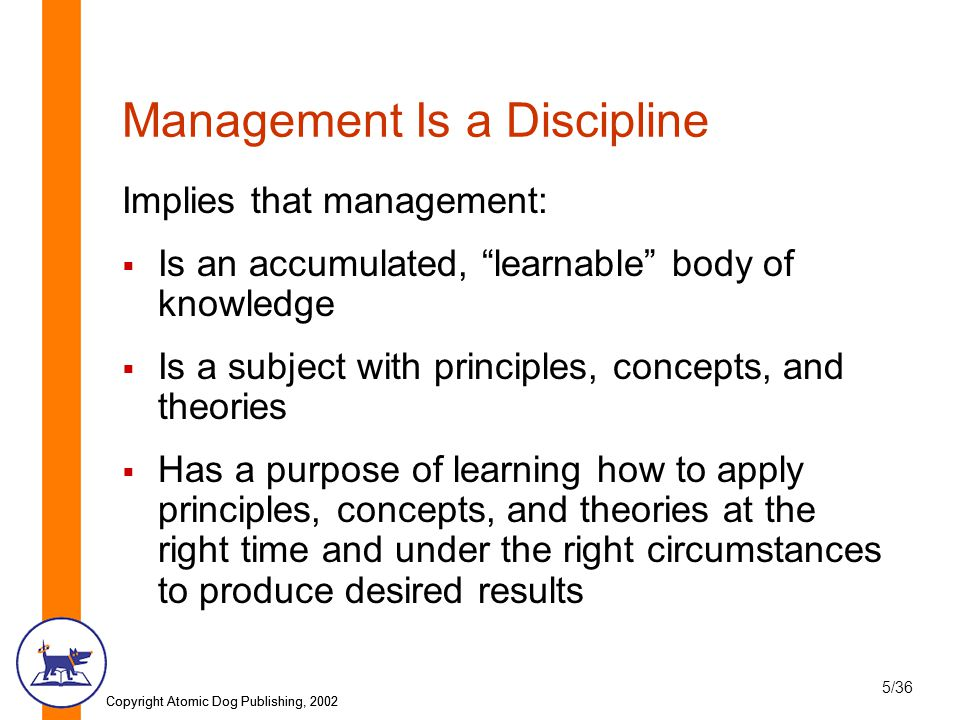 5 management principles and concepts