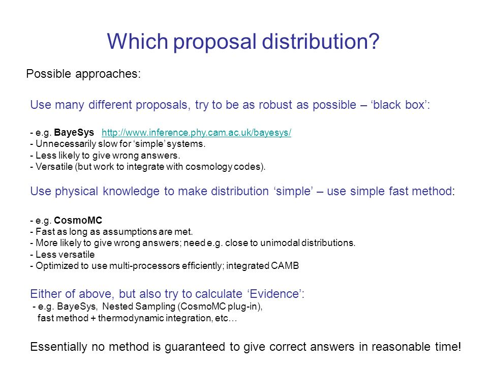 Which proposal distribution