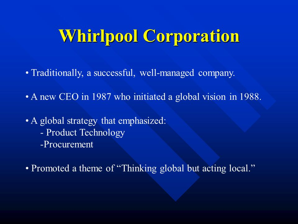 whirlpool corporation global procurement Ball assumes the role following the promotion of phil kortokrax to the position of senior vice president for global operations & procurement  with whirlpool corp.