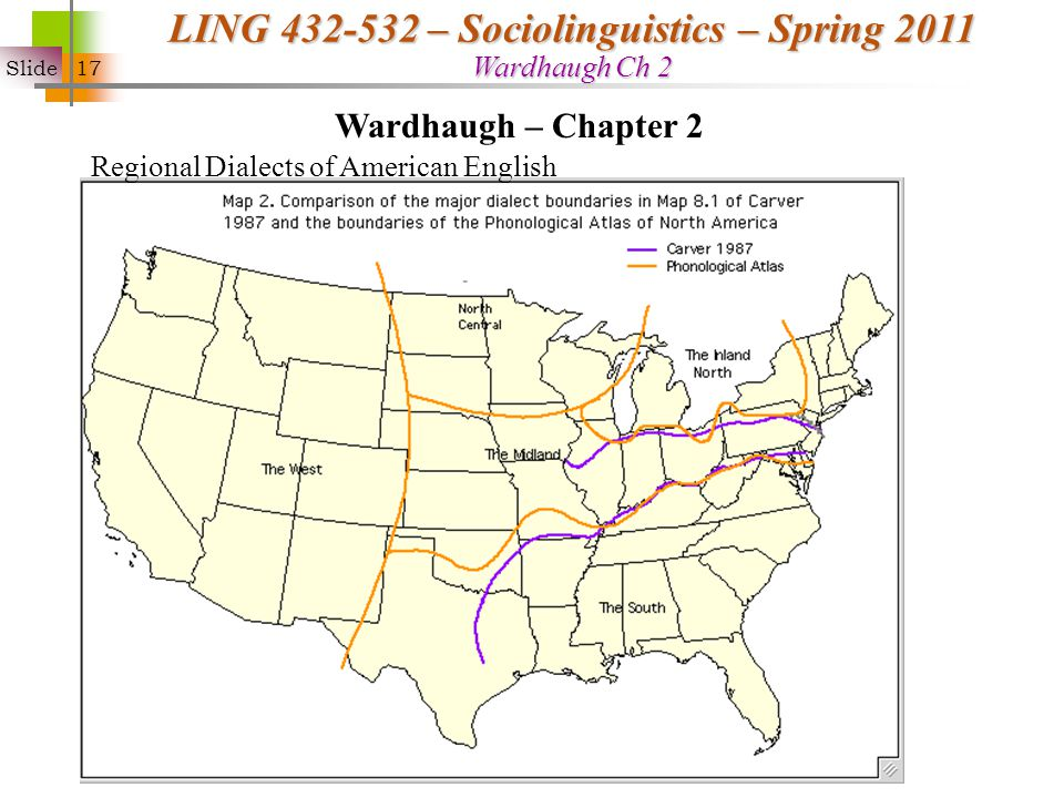 Small Group Discussion Ppt Download - 14 us dialects on map